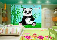 """3D фотообои """"Панда и бамбук"""""""
