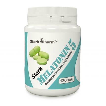 Мелатонин 5 мг Stark Pharm (для хорошого сна) - 120 капс, фото 2