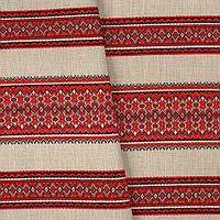 Декоративная ткань с украинским орнаментом ТД-66 (1/1)  от 1 м/пог