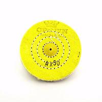 Круг муслиновый CROWN 100 мм 4х50 желтый