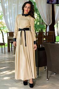 Платье бежевое Demure