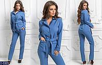 Женский костюм (42, 44, 46)  — креп костюмный купить оптом и в Розницу в одессе  7км