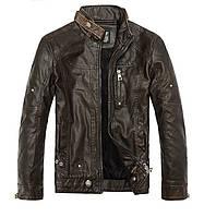 Куртка мужская мото-байк  с натуральной кожи.