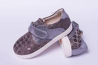 Детские туфли на липучке, кожаная детская обувь от производителя модель ДЖ5013