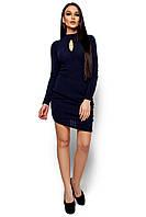 Платье с длинным рукавом Ларетти темно-синий (S,M)