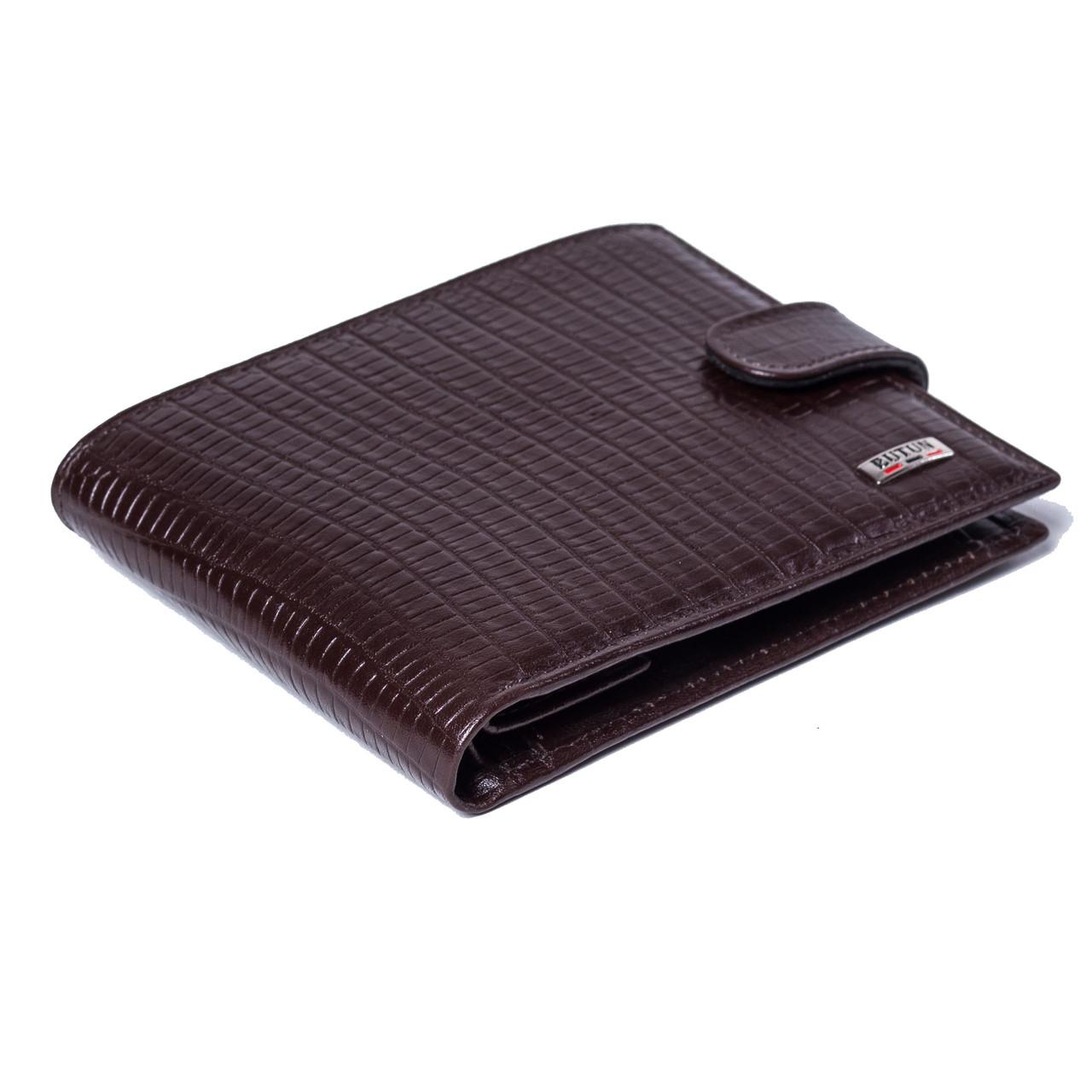 Мужской кошелек кожаный коричневый BUTUN 208-015-004