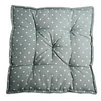 Подушка на стул Кедр на Ливане квадратная стеганная Carol серия Comfy 42x42x9 см Горошек (1100)