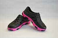 Кроссовки подростковые черные ПВХ Dreamstan, фото 1