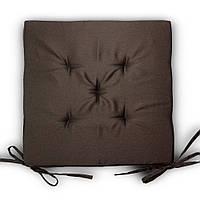 Подушка на стул Кедр на Ливане квадратная серия Classic 37x37x3 см Коричневая (1035)