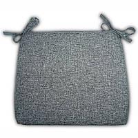 Подушка на кресло Кедр на Ливане плетенное серия Шотландия 52x44x5 см Серая (1062)
