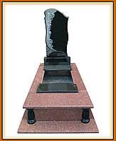 Пам'ятник гранітний одинарний з ліліями