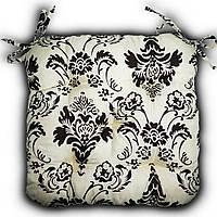 Подушка на стул Кедр на Ливане квадратная стеганная серия Light 38x38x8 см Цветы (1019)