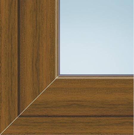Вікно в.1,27 *ш.0,91 м металопластикове двостулкове глухе колір горіх з двох сторін