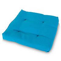 Подушка на стул Кедр на Ливане квадратная стеганная серия Color 40x40x5 см Бирюза (1027)