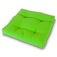 Подушка на стул Кедр на Ливане квадратная стеганная серия Color 40x40x5 см Салатовый (1028)