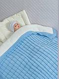 """Зимний конверт-одеяло для новорожденных """"Лапушка"""" голубой, фото 2"""