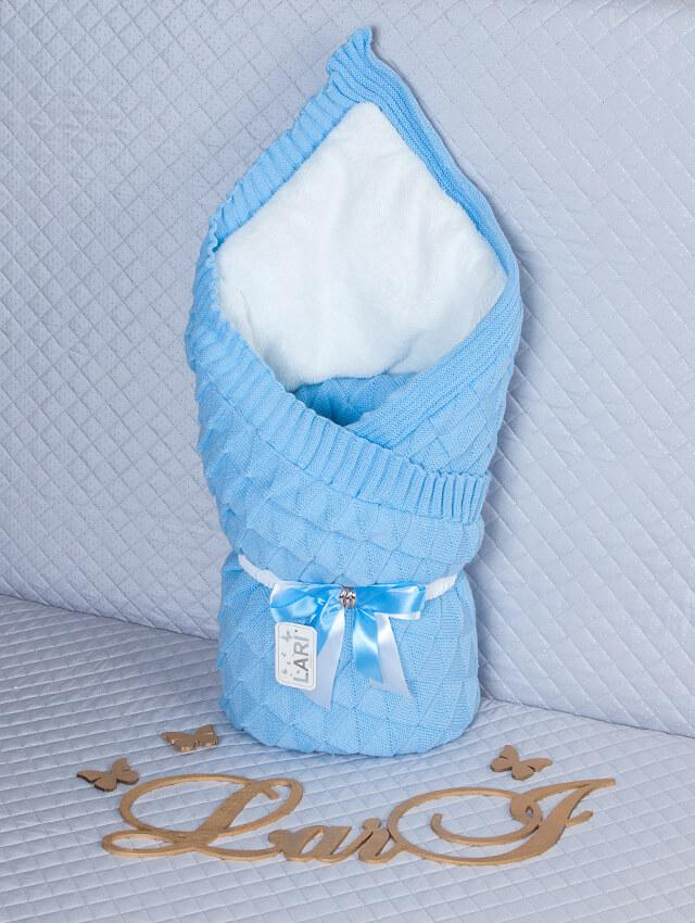 """Зимний конверт-одеяло для новорожденных """"Лапушка"""" голубой"""