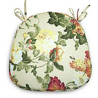 Подушка на стул Кедр на Ливане трапеция серия Simple flowers 40x40x2 см Бежевая (1004)