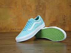 Мужские кеды Vans Old Skool Biscay Trainers Green True White, Ванс Олд Скул, фото 3