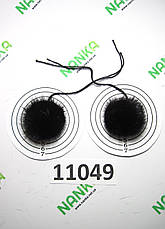 Меховой помпон Норка, Черный шоколад, 4 см, пара 11049, фото 2