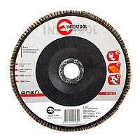 Диск шлифовальный лепестковый INTERTOOL BT-0223, фото 1