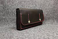 Кожаный кошелек Marlon на 8 карточек (+ большая монетница)  | Черный Краст