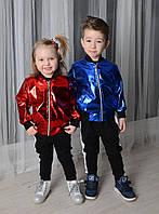 Детская куртка бомбер эко кожа