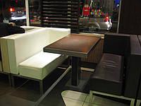 Перетяжка мягкой мебели для кафе