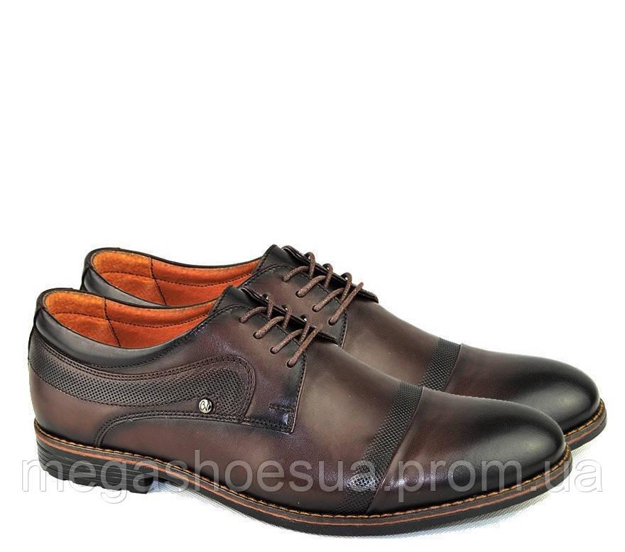 179e39c2bee1 Купить Туфли мужские дерби Cevivo с натуральной кожи стильные в ...