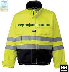 Куртка рабочая сигнальная утепленная желтая (рабочая светоотражающая одежда) HH-BRIW-J YGF