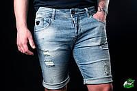 Мужские джинсовые шорты Armani Jeans (реплика)