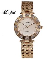 Женские наручные часы кварцевые Miss Fox gold/gold (20621)