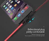 ORICO LTW-10 USB data cable 1 м экранированный Lightning кабель для продуктов Apple Iphone, ipad 2.4A redblack