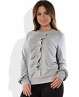Блузка-свитшот серая размеры от XL 3093
