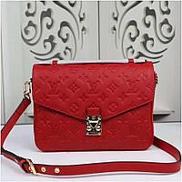 Сумка Louis Vuitton Pochette Metis Monogram цвет красный кожаная