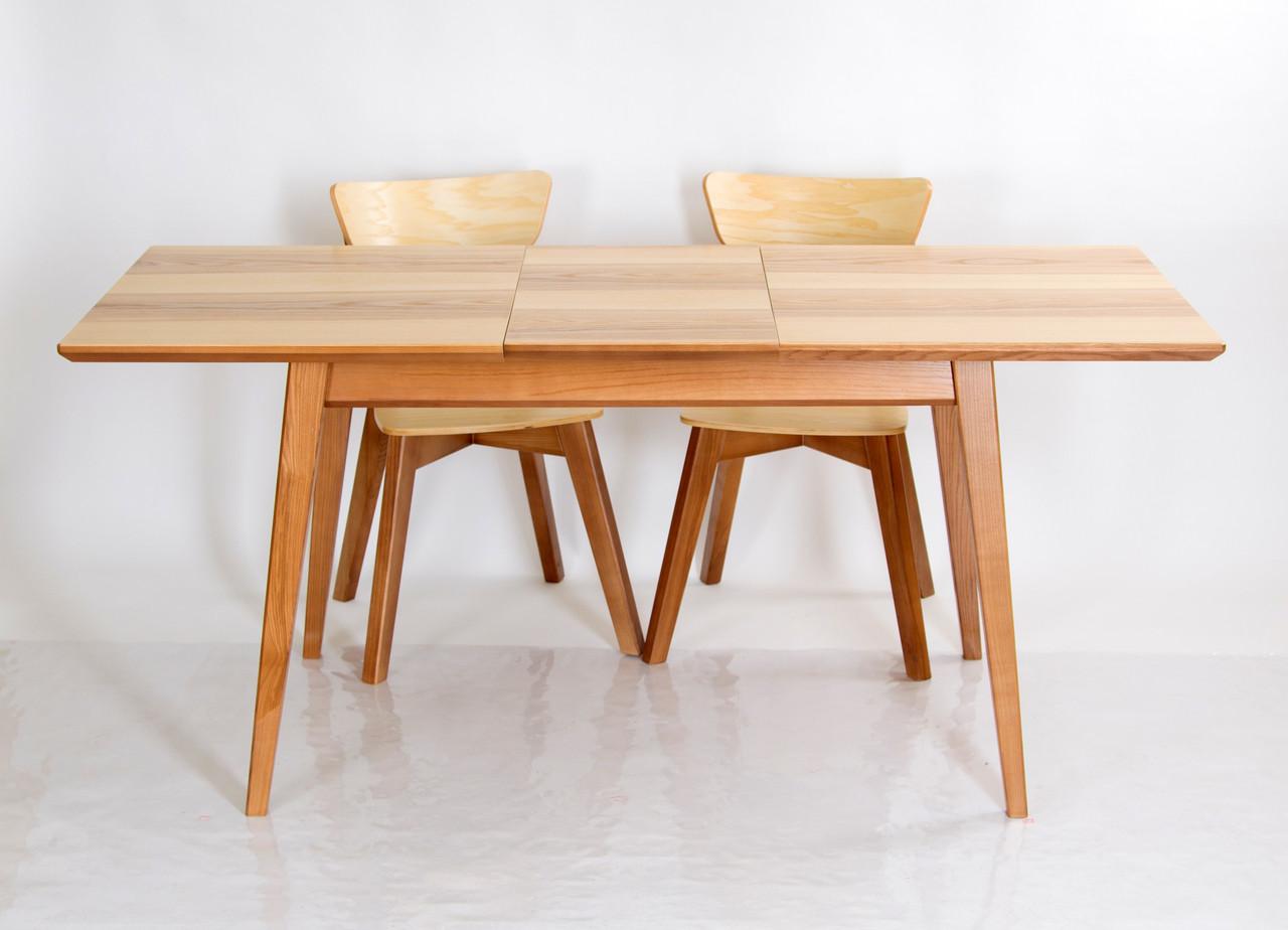 """Стол раскладной  на кухню из массива ясеня Рондо Микс мебель , коллекция мебели """"Лофт"""""""