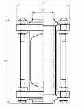 Диоптр трубный Ду40 AISI304 сварка-сварка , фото 3