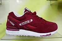 Женские кроссовки Reebok GL6000 бордовые, фото 1