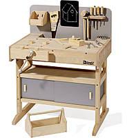 Детская мастерская Howa из цельного дерева с инструментом 32 шт.