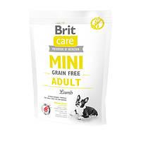 Brit Care GF Mini Adult Lamb Корм для взрослых собак малых пород с ягненком, 400 г
