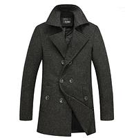 Мужское  пальто. Модель 61659, фото 1