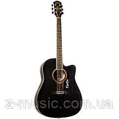 Гитара акустическая матовая EQUITES EQ-09 BKC