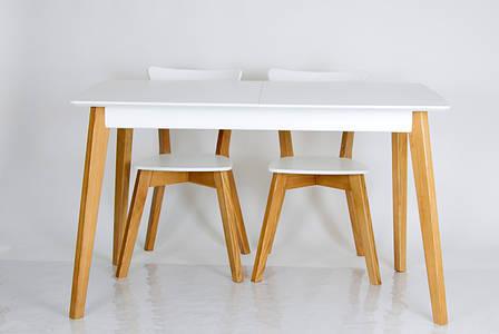 """Обеденный стол в скандинавском стиле из массива ясеня Сингл Микс мебель, коллекция мебели """"Лофт"""", фото 2"""