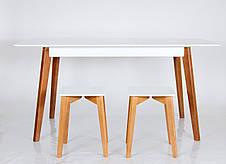 """Обеденный стол в скандинавском стиле из массива ясеня Сингл Микс мебель, коллекция мебели """"Лофт"""", фото 3"""