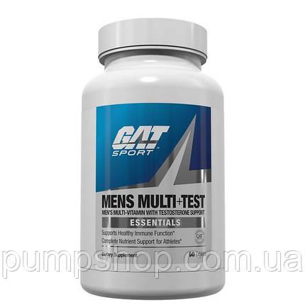 Витамины для мужчин GAT Mens Multi+Test 60 таб., фото 2