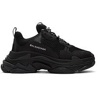 Мужские кроссовки Balenciaga Triple S Sneakers in Black