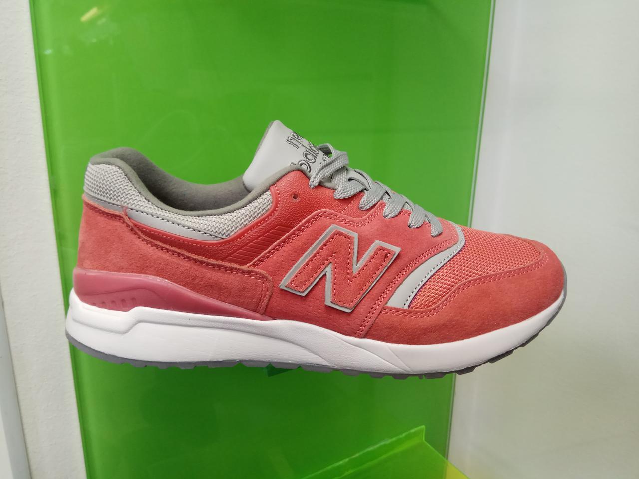 Женские кроссовки new balance 997,5 кораловые