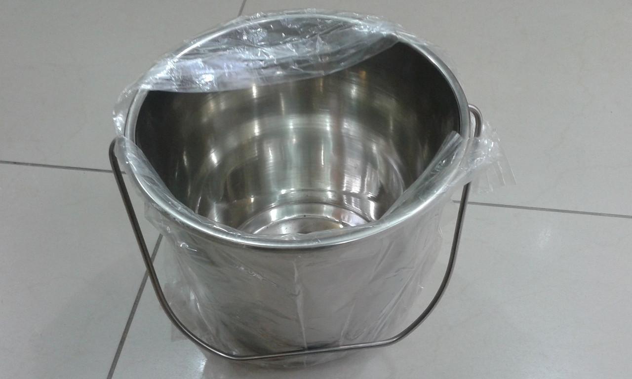 Ведро с нержавейки пищевой литое на 8 литра