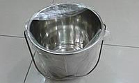 Ведро с нержавейки пищевой литое на 8 литра, фото 1