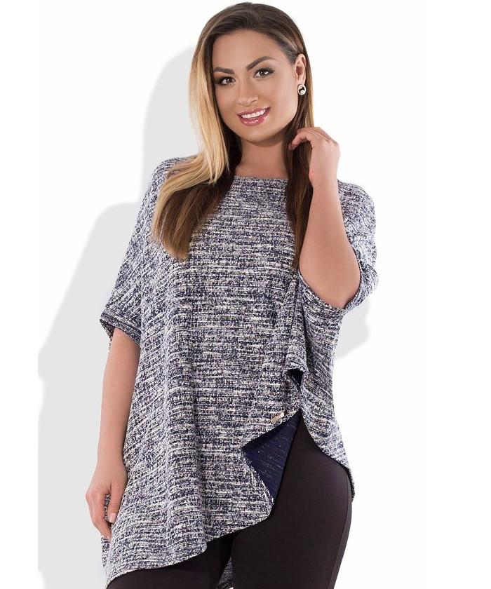 Блуза удлиненная из ангоры размеры от XL 3096